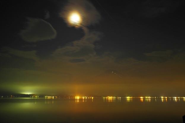 2015富士山麓・夏67「山中湖」月明かりと・・・