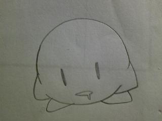 カービィくんは丸いから描き...