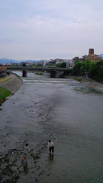 昨日の鴨川。曇天で湿気多かった分、汗凄いかいたな~。