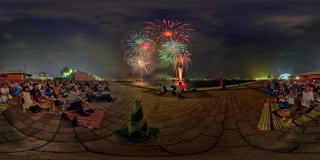 Photos: 2015年8月2日 清水みなと祭り 海上花火大会 360度パノラマ写真
