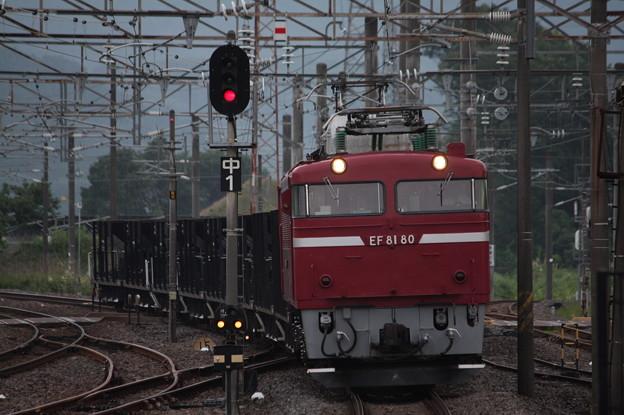 Photos: 水戸工臨 工6383レ EF81 80牽引 (4)