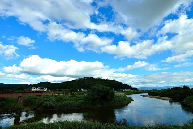 最上川と長井線
