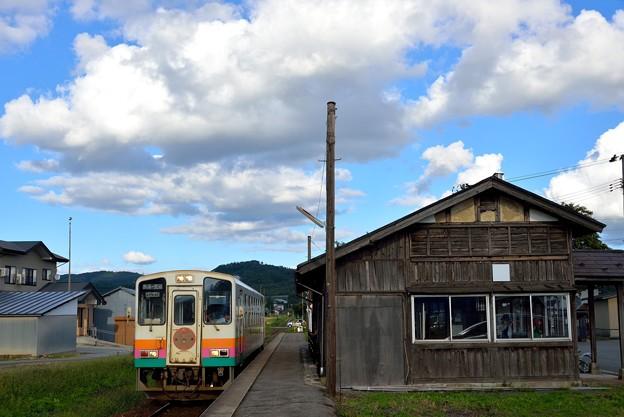 西大塚駅にて