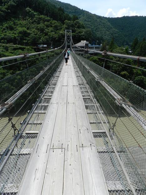 つり橋中央