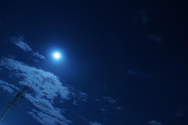 月、雲、星空