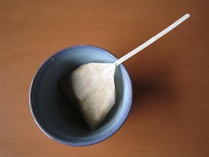 湯呑茶碗でいただきます