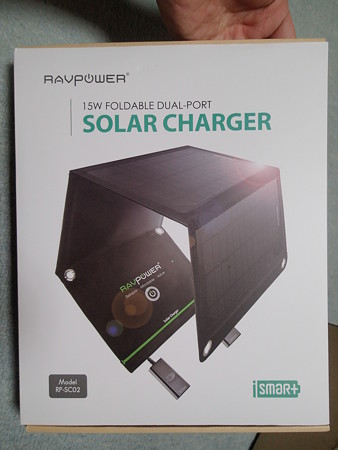 RAVPower 15W Foldable Solar Charger パッケージ表