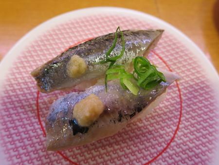 かっぱ寿司 上越店 いわし¥108