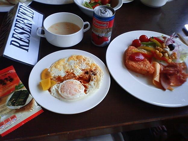 グアム最後の朝食