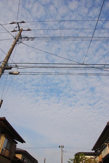 今朝の空雲