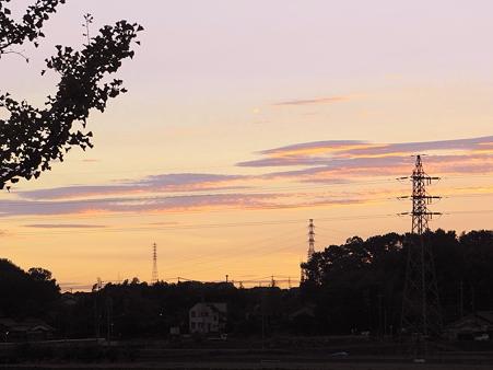 初秋の夕空