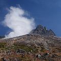 噴煙上げる火の山