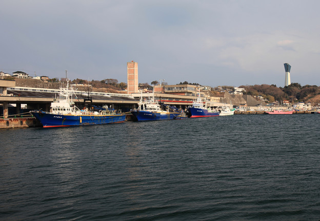 風評被害の漁港
