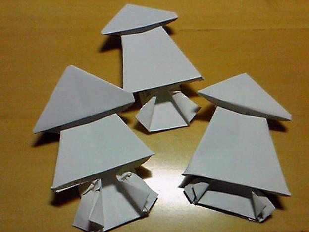 ハート 折り紙:割り箸 折り紙-photozou.jp