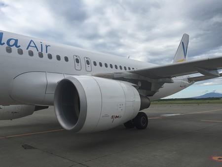 乗機するJA03VA
