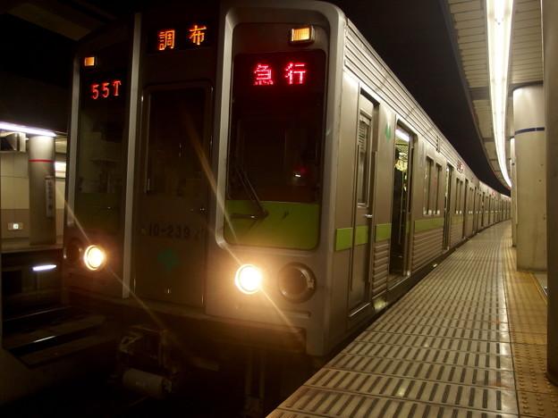京王線幡ヶ谷駅1番線 急行調布行き停車中