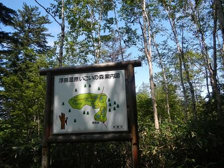 浮島湿原の沼(案内図)