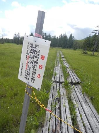 浮島湿原木道通行止め箇所