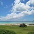 碧い海と空