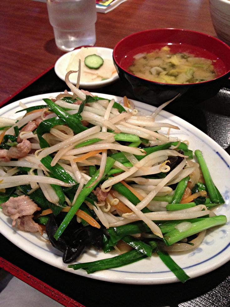 肉ニラ炒め