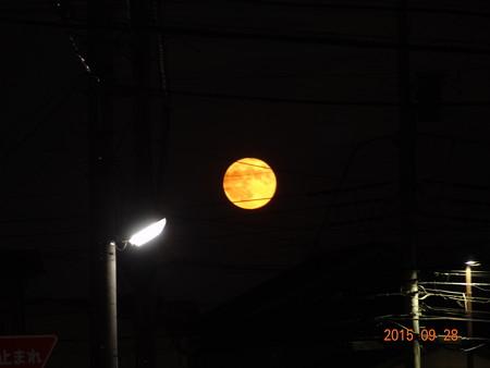 20150928満月(スーパームーン)