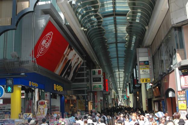 心斎橋商店街 シルバーウィーク 激混みの様子。