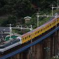"Photos: 玉川橋梁を行く""東京メトロ1000系""甲種輸送列車"