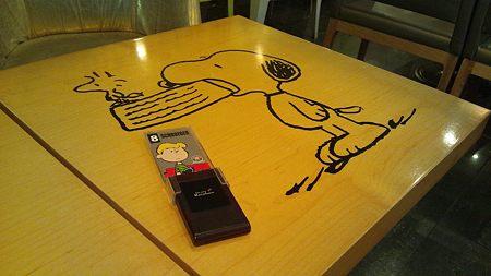 テーブルもスヌーピー
