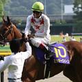 写真: ミッキークイーン  ウイニングラン_3(第76回 優駿牝馬)