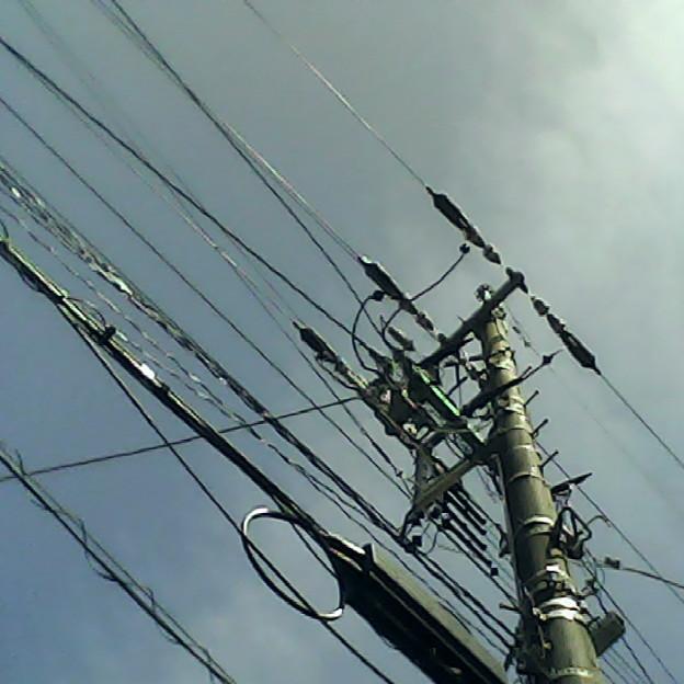 青空と電柱