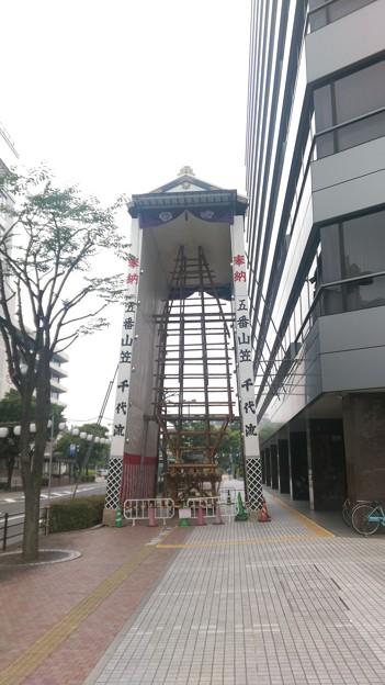 2015年 博多祇園山笠 飾り山笠 建設中 写真画像 (4)