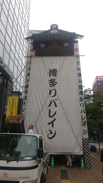 2015年 博多祇園山笠 飾り山笠 建設中 写真画像 (5)