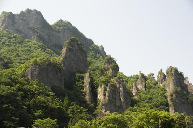 写真: 妙義山奇岩 中之嶽石門