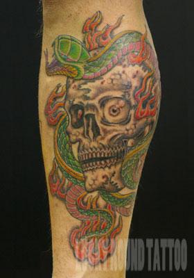 LUCKY ROUND TATTOO スカル タトゥー 刺青 画像