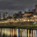 Photos: 京都,鴨川沿いの川床風景
