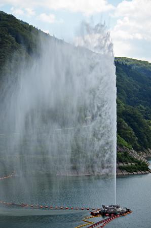 150726月山湖噴水04