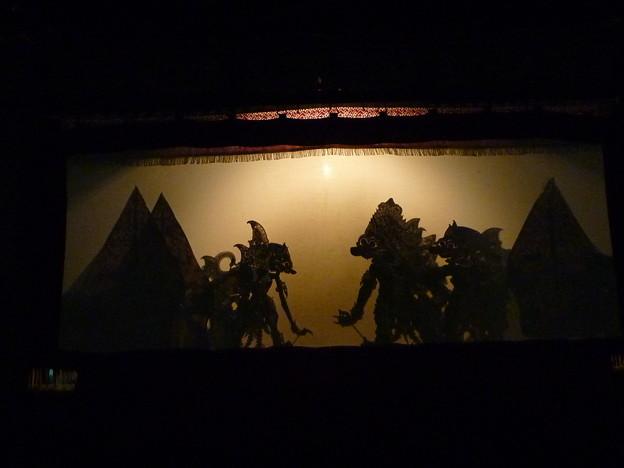 ワヤン・クリ(影絵芝居) Shadow puppet performance