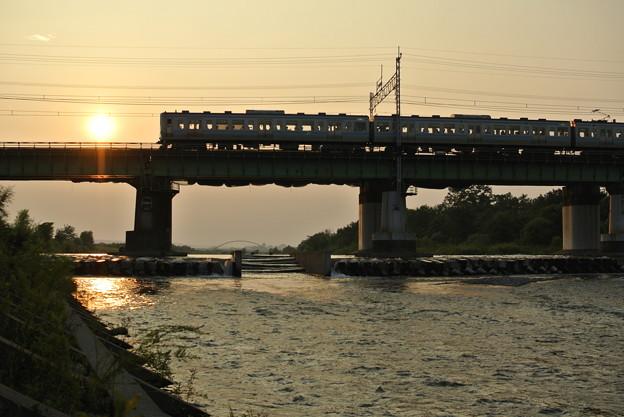 20150803中央線多摩川橋梁にて