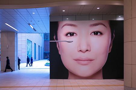2011.11.30 汐留 資生堂のポスター