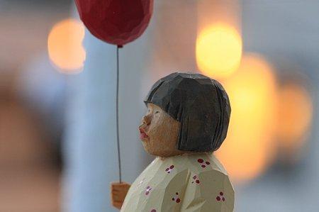 2012.01.24 ベランダ 寒い朝 木彫り小舎