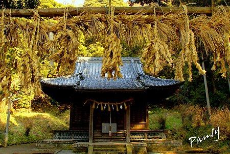 大百足を模した注連縄・・白山神社(鎌倉)・・11