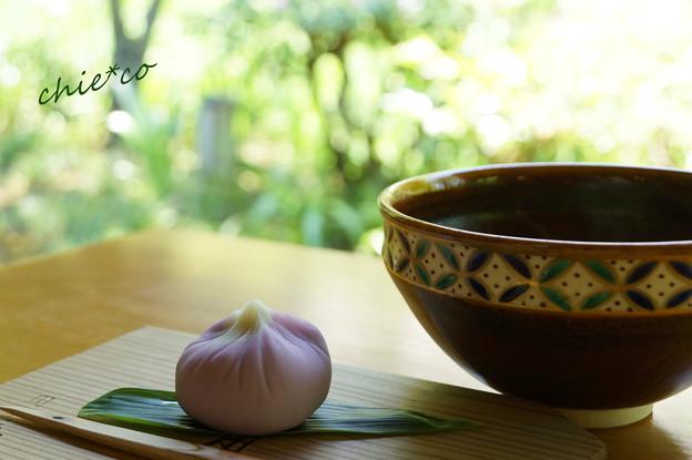 こまきの上生菓子「花菖蒲」と・・