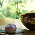 Photos: こまきの上生菓子「花菖蒲」と・・