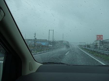 台風直撃の中、ドライブ・・・