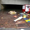 ペドリン(台風)を人災にした管理人 駐車場水没