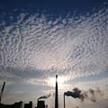 煙突とうろこ雲