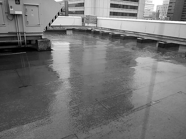 写真: キュウウンフウヲツゲル・・・(・・)ぴ~川西も大雨らしい #大阪市本町あたり1