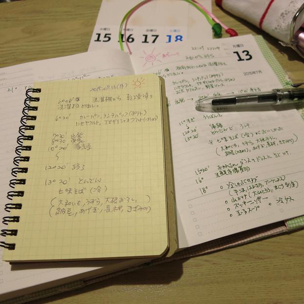 お出かけした時の日記