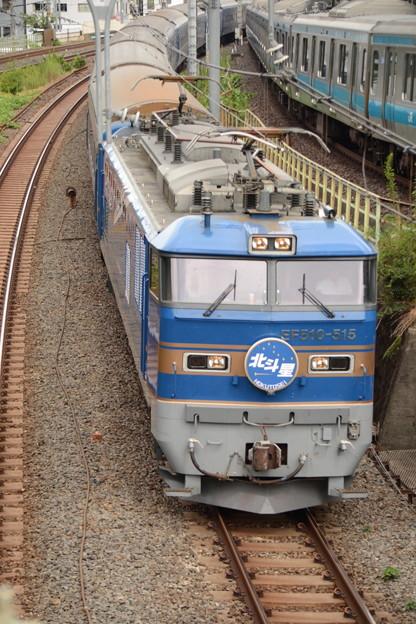 Photos: EF510-515牽引北斗星号お出迎え