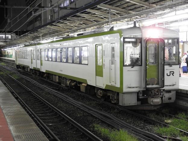 キハ100系2560D新津行き新潟1番間もなく発車